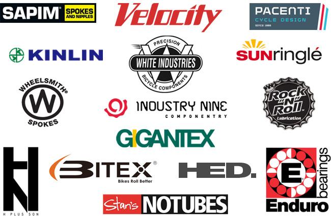 Bikehubstore.com vendor logos